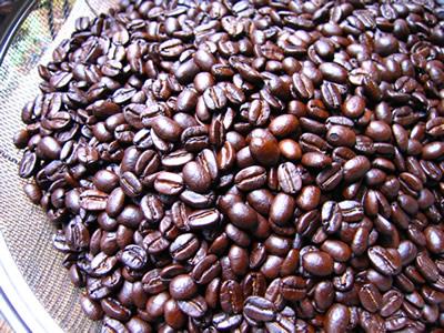オーバーローストのコーヒー豆